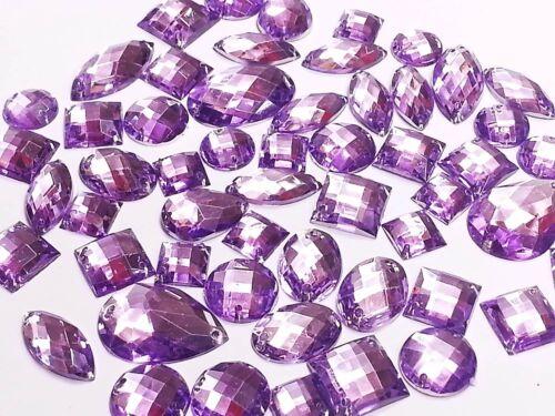 puntada en pegarlos en Diamante Cristal Joyas Rhinestone 50 Facetado Acrílico cose en