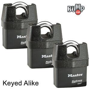 6eeb3a2dd10b Details about Master Lock Pro Series-(3) High Security Padlocks Keyed Alike  6327NKA-3 BumpStop