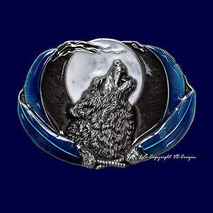 Hurlant Loup Mond Wolfpack Faune Boucle de Ceinture Motif Loup Boucle 263