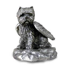 PEWTER Angel WESTIE West Highland Dog Figurine Statue