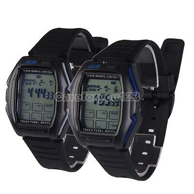 Chic Touch Screen Panel Remote Control TV/DVD Function LCD Digital Wrist Watch
