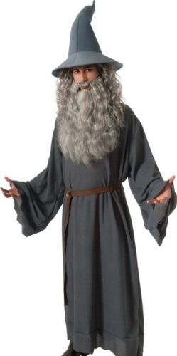 Std /& XL Plus Size Gandalf Costume Adult LOTR The Hobbit Wizard Sorcerer Robe
