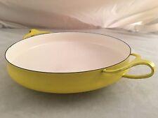 Mid Century Modern Kobenstyle Quistgaard Pre-Dansk Creamy Yellow Enamel Open Pan