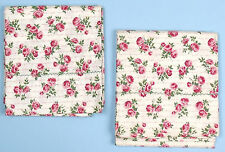 Vintage Pair of SHABBY ROSE PILLOWCASES Standard Size Pink Red Green Floral