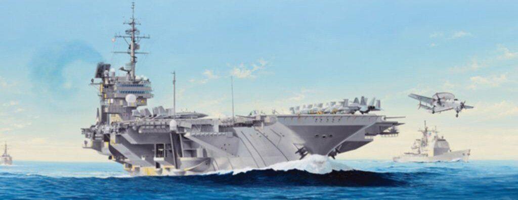 05620 trumpetare Förlaga 1  350 skala USS Constellation CV -64 Luftfkonstyg