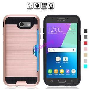 Resistant-aux-Chocs-Brosse-Carte-Poche-Coque-Rigide-pour-Samsung-Galaxy-J3