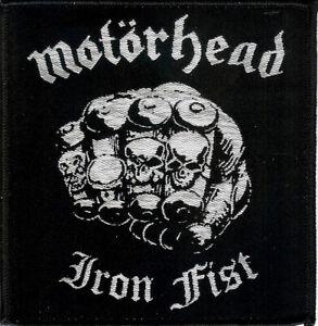 Motorhead-Iron-Fist-Patch-Lemmy-Tank-Girlschool-Warfare-Saxon-Sodom-Venom-Raven