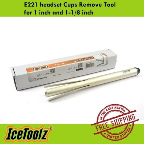 IceToolz Bike E221 headset Cups Remove Tool for 1 inch and 1-1//8 inch