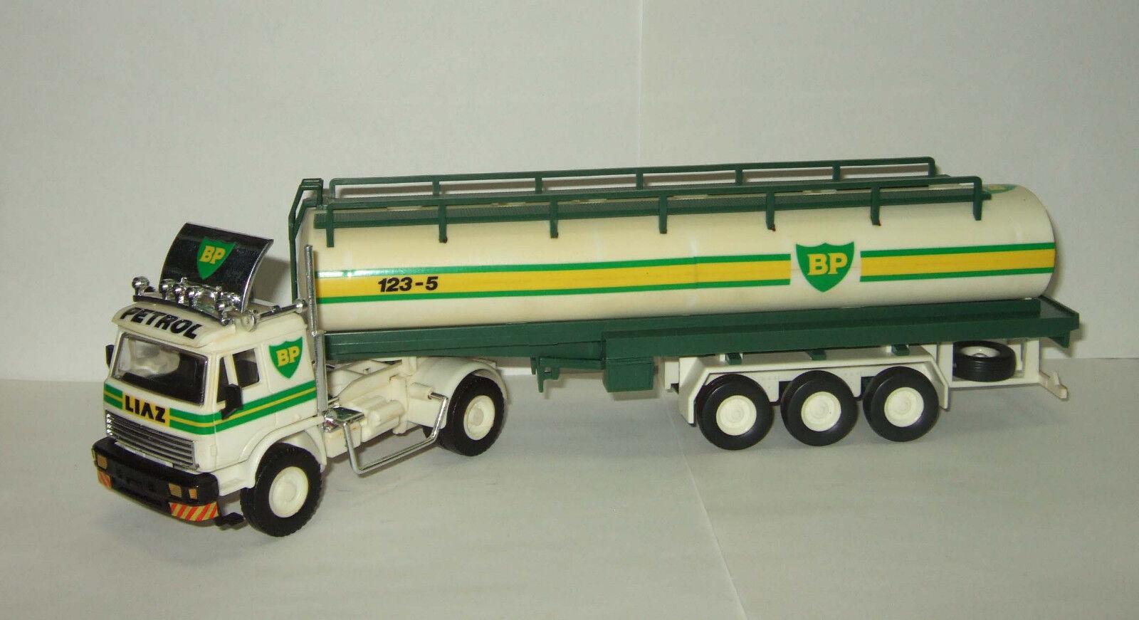 1 48 Monti System Liaz 110 551 + semitrailer Cintern BP 1983 soviet czech truck
