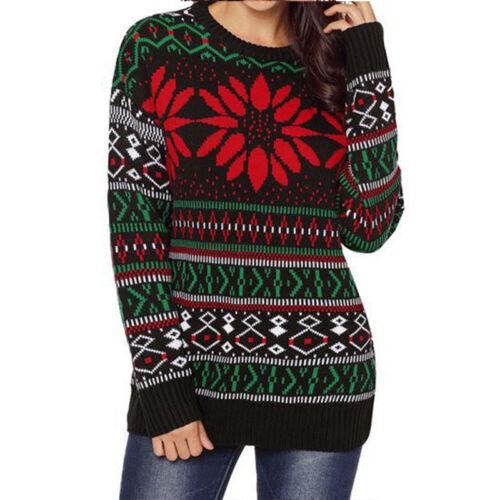 Women Xmas Santa Tunic Tops Sweatshirt Jumper Pullover Christmas Shirt Blouse XL