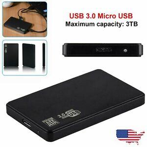 USB 3.0 2TB SATA SSD External Hard Drive Portable Desktop Mobile Hard Disk Case
