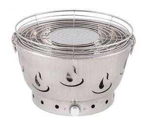 Parrilla-de-Carbon-acero-inoxidable-libre-humo-aire-caliente-ventilacion-Activa