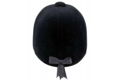 Champion CPX3000 Delux Velvet Riding Hat With Leather Harness In Navy Or Black
