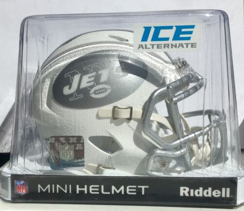 "New York Jets NFL American Football Riddell White Ice 6"" Mini Speed Helmet"