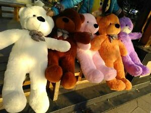 Hot-Giant-Plush-Huge-Teddy-Bear-Toy-Soft-Stuffed-Animal-Gift-Toys-Big-Doll-Brown