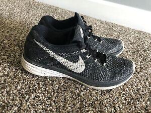 Sufijo Molestia fábrica  Nike Flyknit Lunar 3 Mujeres Talla 7.5 Negro Oreo Tenis Zapatos Atléticos  Funcionando   eBay