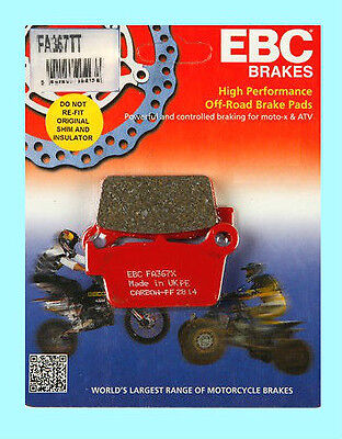EBC FA367TT Rear Brake Pads for Yamaha YZ YZ125 YZ250 /& YZ450 models 2003-15