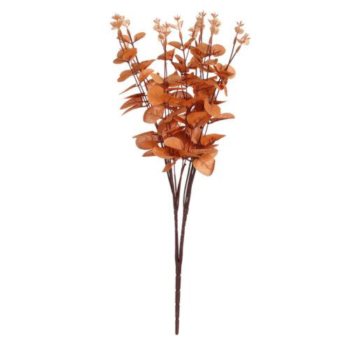 Artificial Silk Flowers Faux Foliage Fake Willow Leaf Eucalyptus Plant Bouquet