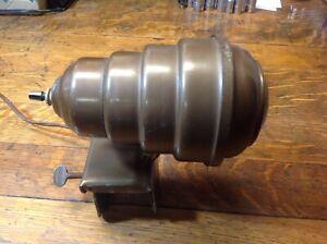 Vintage Art Deco Metal Beehive Bullet Clamp-on Headboard Lamp, Free Shipping!