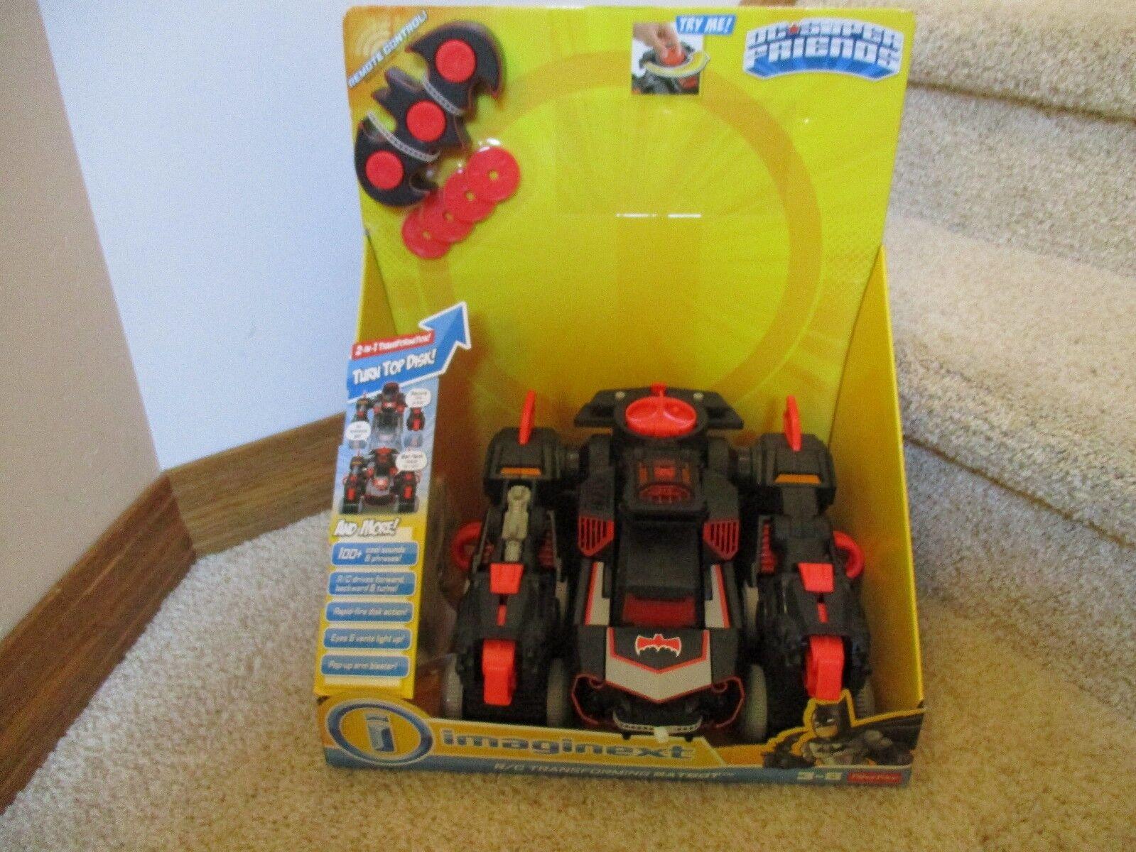 Fisher Price Imaginext Imaginext Imaginext DC Super Friends RED Batbot Batman robot remote control c15e21