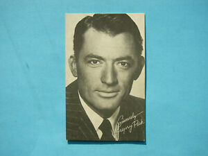 1947-66-TELEVISION-amp-ACTORS-EXHIBIT-CARD-PHOTO-GREGORY-PECK-SHARP-EXHIBITS