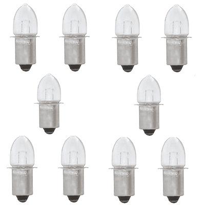 P13,5s Prefocus Fernsichtbirnchen Glühlampe Ersatzlampe olivenform 10x 6V 0,5A