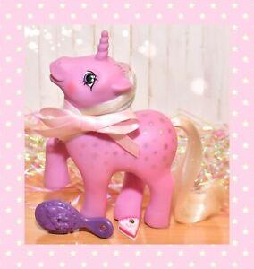 ❤️My Little Pony MLP G1 Vtg Twice as Fancy TAF Milky Way Unicorn Pink Stars❤️