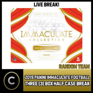 2019-PANINI-IMMACULATE-FOOTBALL-3-BOX-HALF-CASE-BREAK-F332-RANDOM-TEAMS