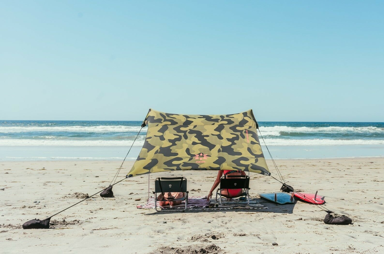 Neso Tents Beach Tent with Sand Anchor, Portable  Canopy Sun Shelter (Camo)  comfortable