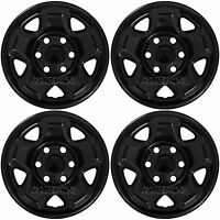 4 Black 2005-2016 Toyota Tacoma 16 Wheel Skins Hub Caps 6 Lug Steel Rim Covers
