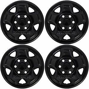 "4 BLACK 2005-2017 Toyota Tacoma 16"" Wheel Skins Hub Caps 6 Lug Steel Rim Covers"