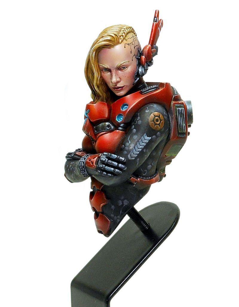 Luxumbra Infinity Acherontia Mobile Brigada Squad Corvus Belli Nomadi Bust Busto