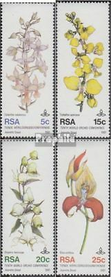 Unmounted Mint Never Hinged 1981 Orchid complete.issue. Honey South Africa 590-593