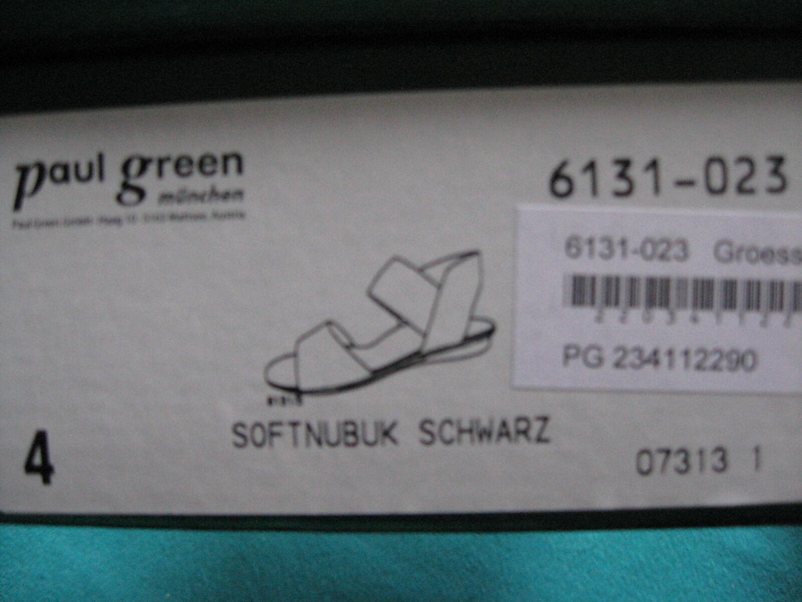 Paul Grün Damenpumps Sandaletten 6131-023, Größe 37, Softnubuk Softnubuk Softnubuk schwarz, flach b79f8e