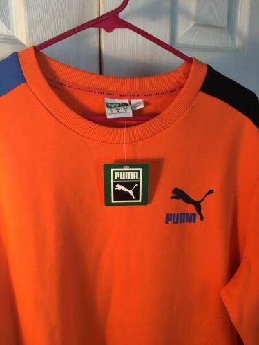 Sweatshirt Puma Orange Pull New Mens Medium over Size nS7Svqwx