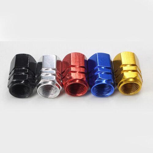 4x Aluminio Aleación Coche Neumático Válvula Tapa Cubierta Rueda Rims Tallo Aire