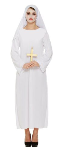 Female Nuns Costume Nun Habit Fancy Dress Halloween Costume Adult Size Sister