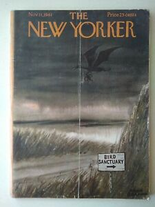 New-Yorker-Magazine-Nov-11-1961-Full-Magazine-Cover-Art-Chas-Addams