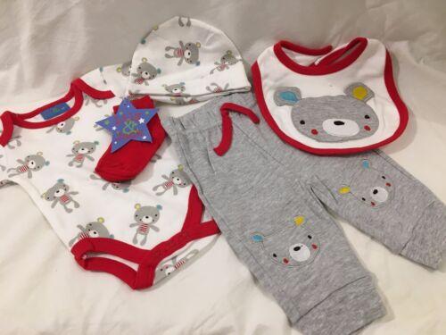 baby babies babys girls boys 5 PIECE OUTFIT set vest hat leggings bib socks suit