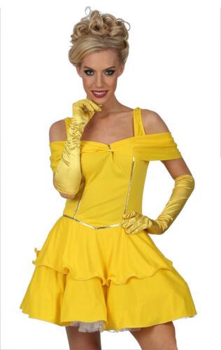 Costume da Donna Belle adulti incantevole bellezza Costume Vestito Fairytale FK