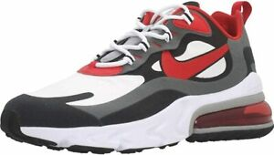 Nike Air Max 270 React Men S Size 8 Black Red White Running Shoes