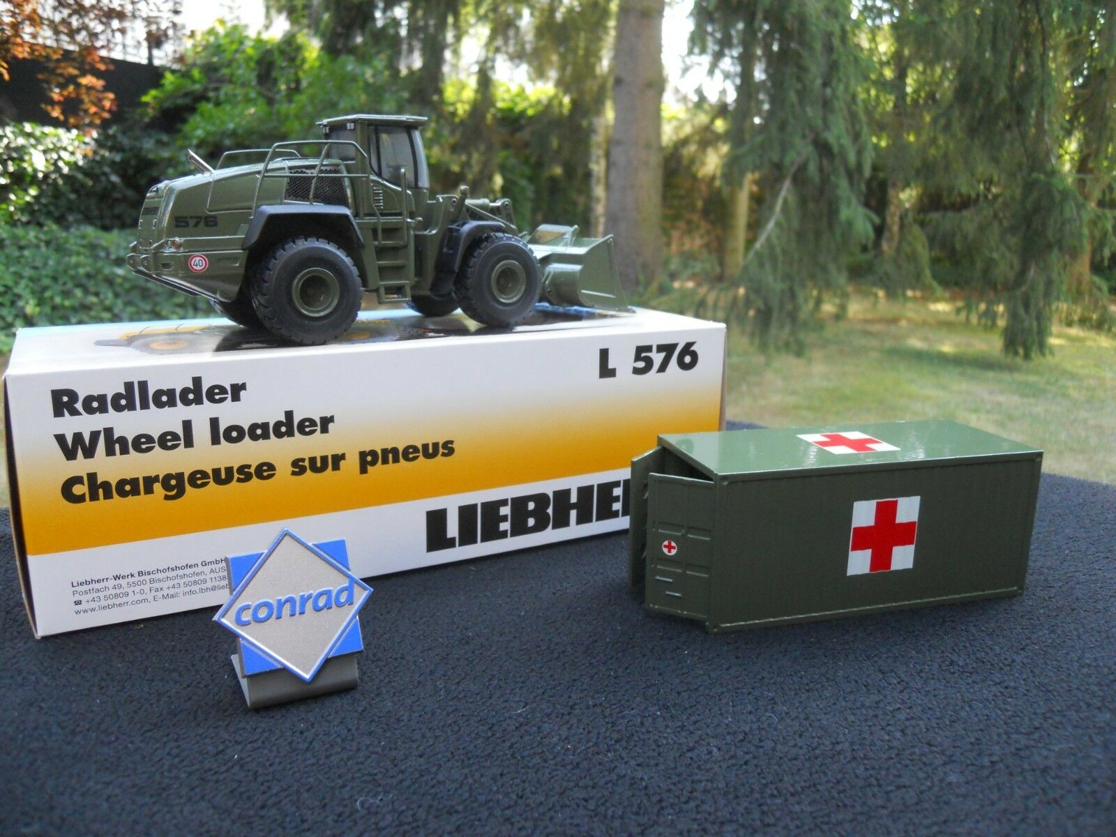Vehicle Military Conrad Liebherr L 576+ Container Sanitary + Logo Free