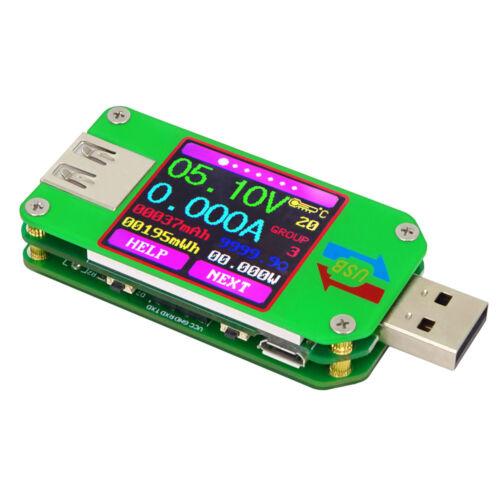 RUIDENG UM24//UM24C USB 2.0 Color LCD Display Tester Voltage Current Meter