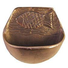 Weihbecken Weihwasserbecken Fisch Bronze 9 cm * 9 cm stoup bronze