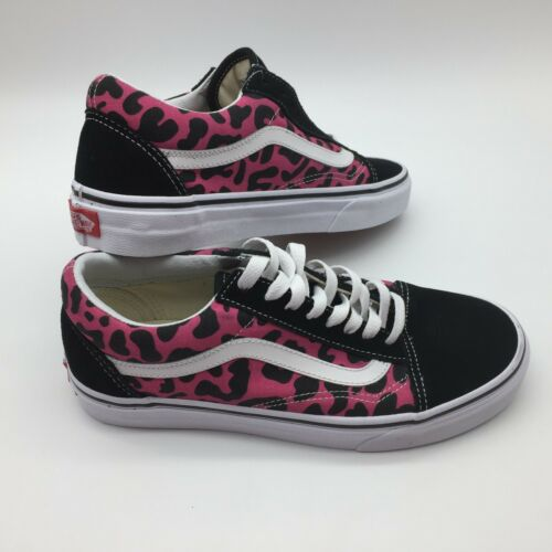 Vans mujer Old Hombre Rosa Zapatos leopardo negro Skool qHPqa6w