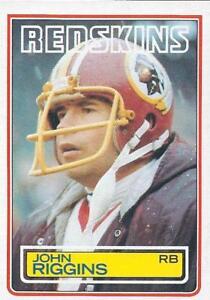 WASHINGTON-REDSKINS-Lot-of-2-1983-Topps-John-Riggins-198-Dexter-Manley-191-NFL