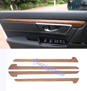 Peach Wood Grain Inner Door Decorative Strip Trim For Honda CRV CR-V 2017 2018