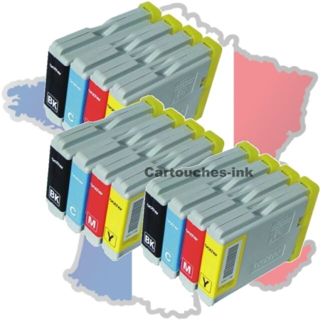 12 Cartouches-ink encre compatible imprimante Brother LC970 LC1000 MFC680CN