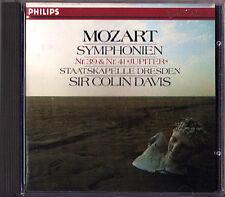Sir COLIN DAVIS: MOZART Symphony No.39 & 41 Jupiter CD 1982 Staaskapelle Dresden