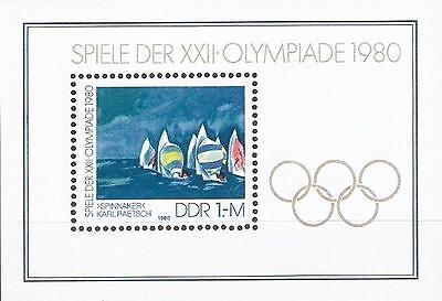 Ddr Mi.nr. Block 60** (1980) Postfrisch/olympische Sommerspiele, Moskau